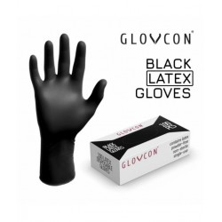 GUANTES GLOVCON® LATEX suave - negro - 100uds